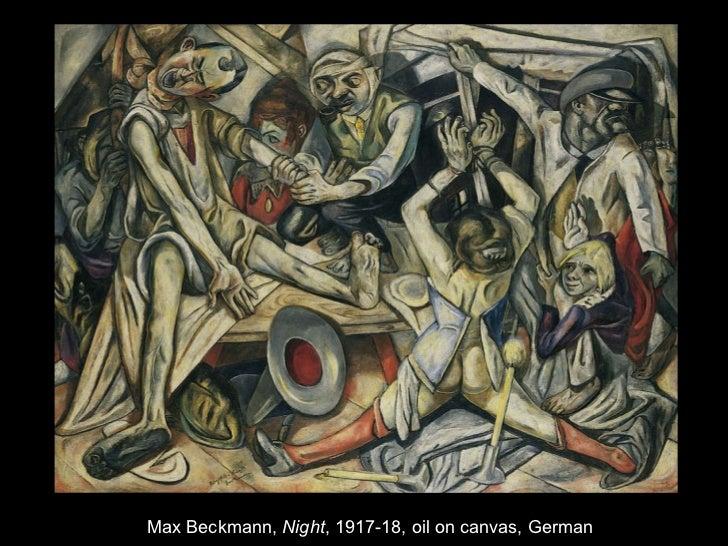 <ul><li>Max Beckmann,  Night , 1917-18, oil on canvas, German </li></ul>