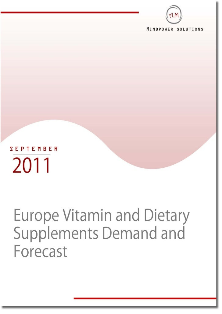 EXECUTIVE SUMMARYEurope is considered to be one of the largest markets for nutrients & supplements in theworld. In the Eur...