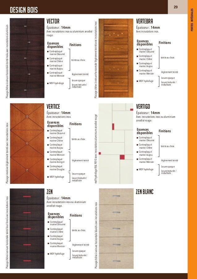 design boisAperçu des essences de boisPrésentés ici teintés naturels.teintes disponibleslasure opaqueToutes couleurs RAL d...