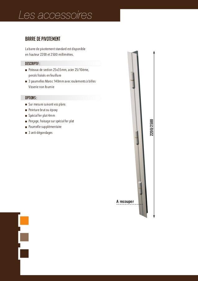 Les accessoires 79Anti-pince standardHauteurs disponibles : 2200mm, 2500mm et 3000mmEn double U, intérieur pré-percéFiniti...