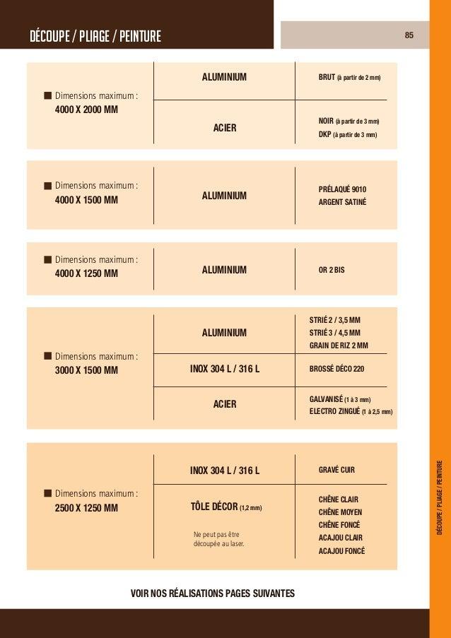 Toutes pièces pour les secteurs suivants :IndustrieBâtimentMécaniqueAscenseursEnseignesles applicationsdécoupe / pliage / ...