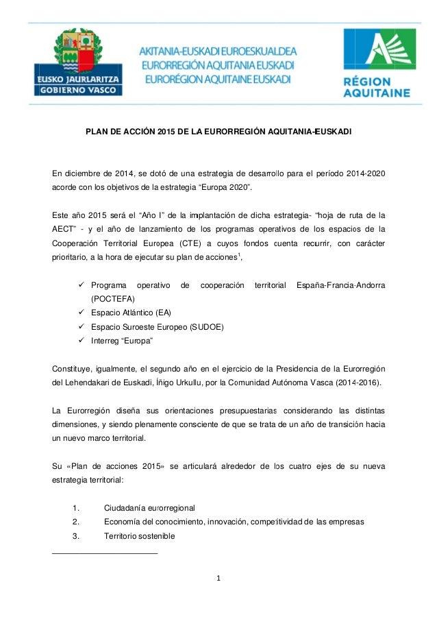 """En dicie acorde Este añ AECT"""" Coopera prioritar     Constitu del Lehe La Eur dimensi un nuev Su «Pla estrateg 1. 2. 3...."""