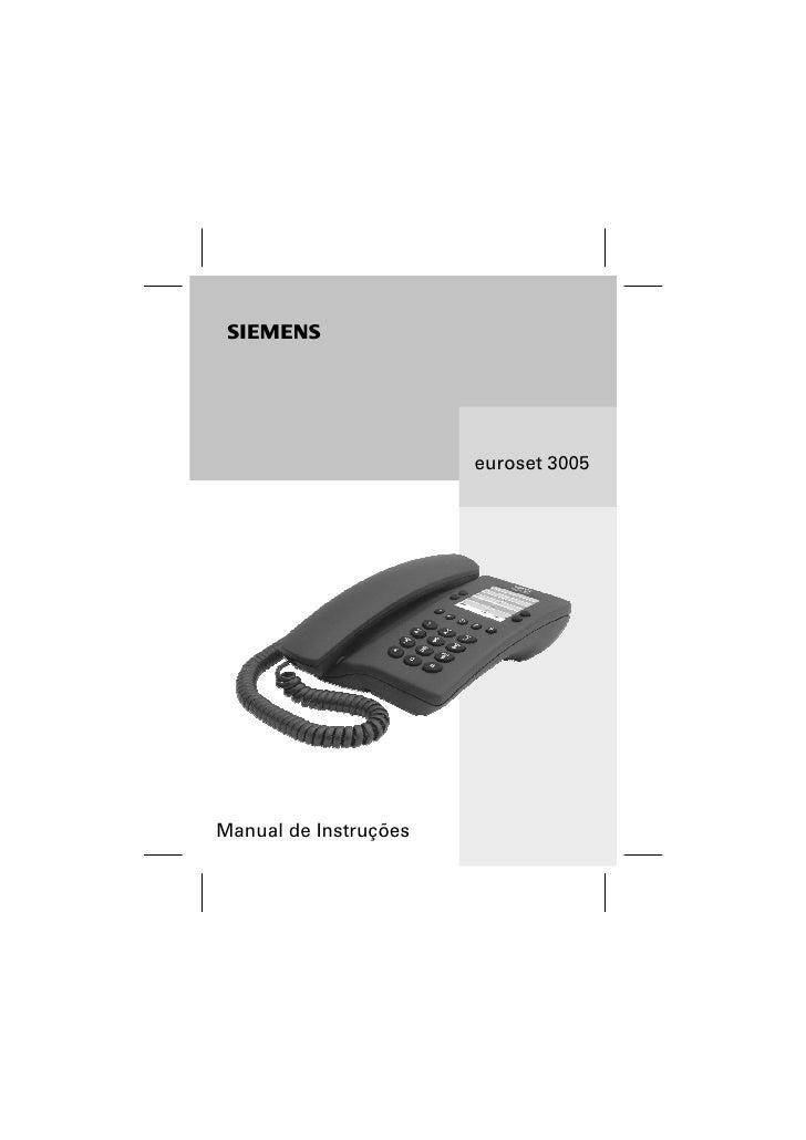s                       euroset 3005Manual de Instruções