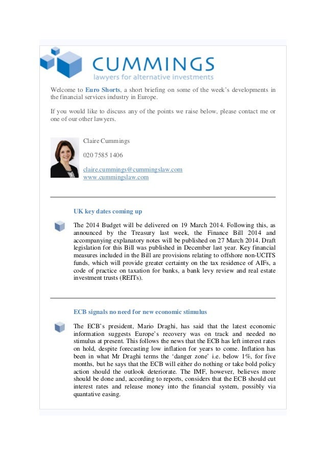 Welcome to Euro Shorts, a short briefing on some of the week's developments in the financial services industry in Europe. ...