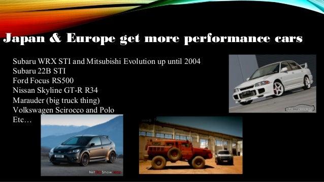 Euro Spec Cars/Euro vs. American Cars