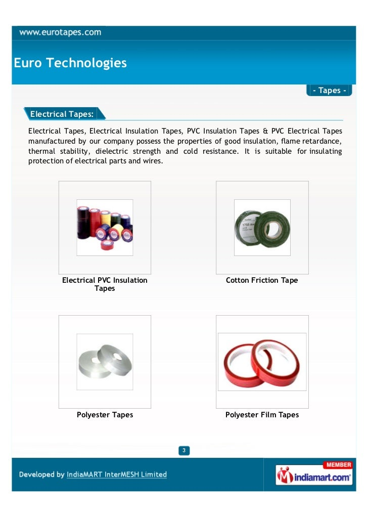 Euro Technologies                                                                                   - Tapes -  Electrical ...
