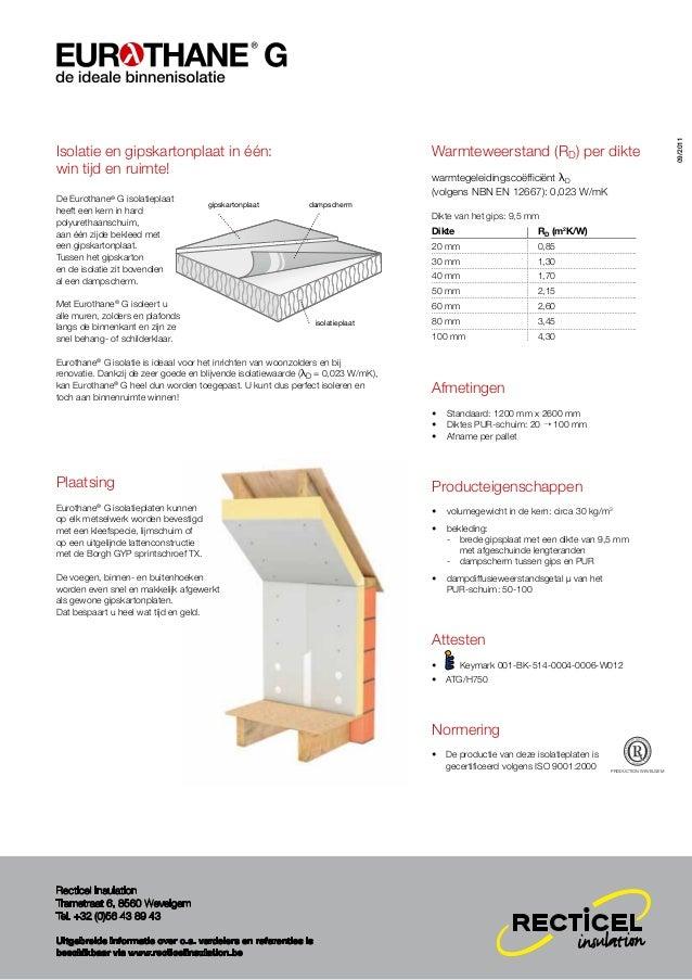 Recticel Insulation - Eurothane g productflyer