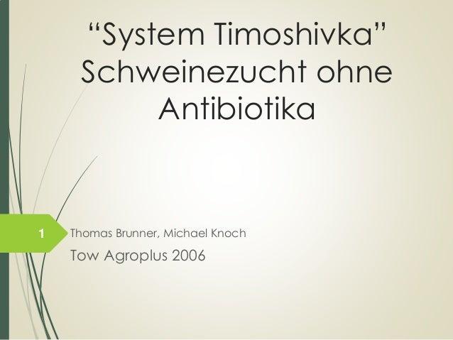 """""""System Timoshivka"""" SchweinezuchtohneAntibiotika  Thomas Brunner, Michael Knoch  Tow Agroplus2006  1"""