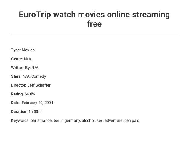 Eurotrip Streaming