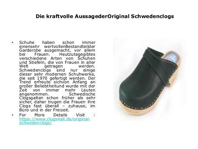 Die kraftvolle AussagederOriginal Schwedenclogs  • Schuhe haben schon immer  einensehr wertvollenBestandteilder  Garderobe...