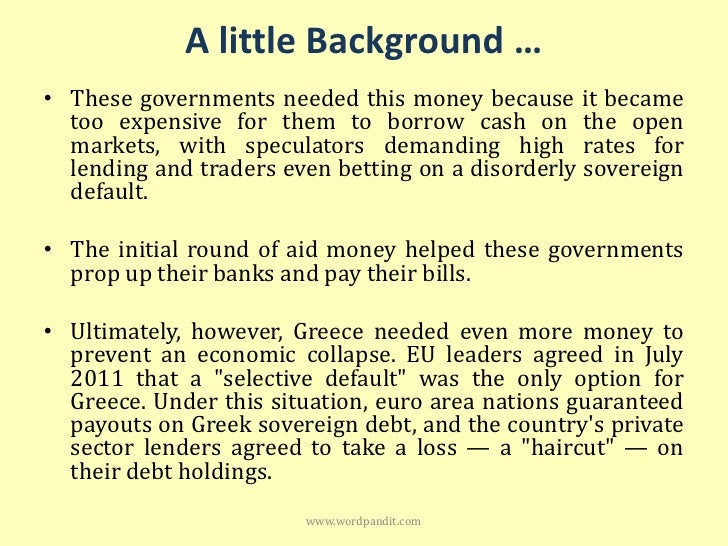 the sovereign debt crises in euro zone economics essay Woes such as the sovereign debt crisis in several countries, the fragile condition of major members of the eurozone using a taylor rule as a model for optimal interest rate decisions in (peterson institute for international economics 27 october 2011.