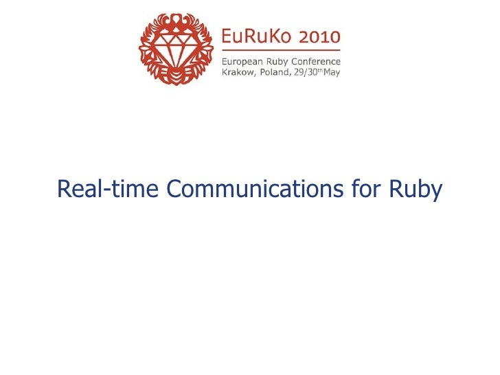 Real-time Communications for Ruby