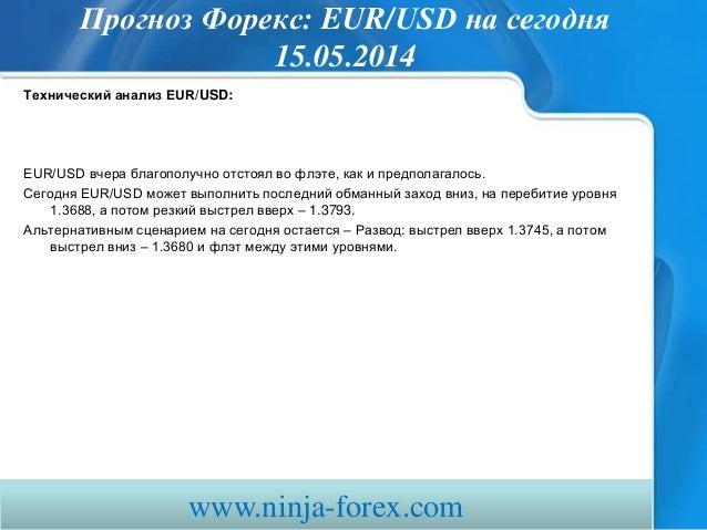 прогноз форекс Eurusd сегодня 150514 Slide 2