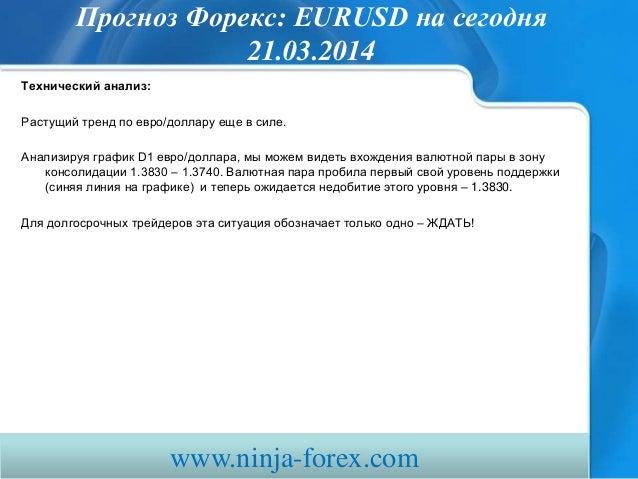 прогноз форекс Eurusd сегодня 210314 Slide 3