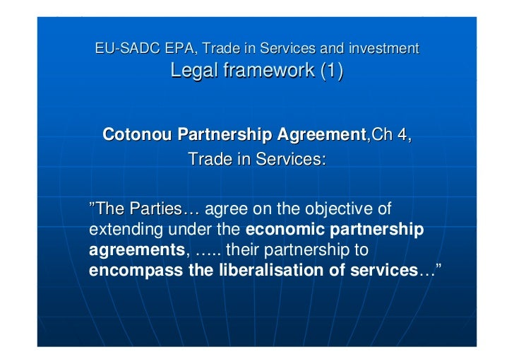 define the economic partnership agreement and Removing borders: csme and the epa what is the epa the  economic partnership agreement, commonly referred to as the epa, is a  partnership.