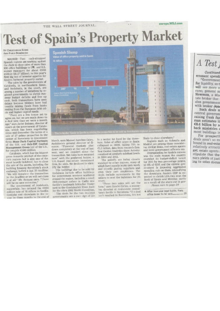 Eusebi Carles @ Wall Street Journal - 25.01.2012