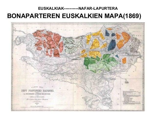 BONAPARTEREN EUSKALKIEN MAPA(1869) EUSKALKIAK-----------NAFAR-LAPURTERA