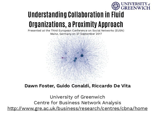 Understanding Collaboration in Fluid Organizations, a Proximity Approach Presented at the Third European Conference on Soc...