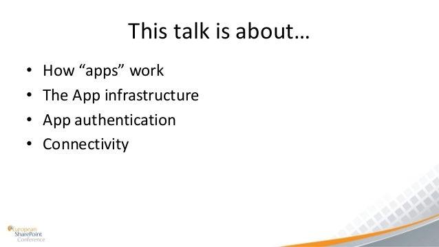 Building SharePoint 2013 Apps - Architecture, Authentication & Connectivity API Slide 3