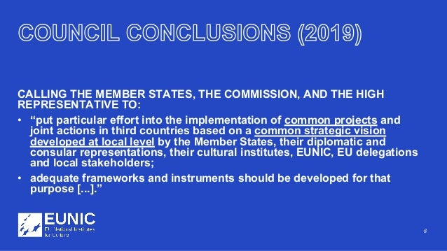"""8 CALLING THE MEMBER STATES, THE COMMISSION, AND THE HIGH REPRESENTATIVE TO: • """"put particular effort into the implementat..."""
