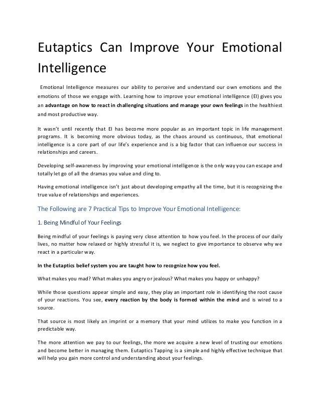 How boost emotional intelligence life relationships