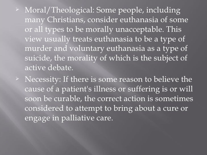 Morality of Euthanasia