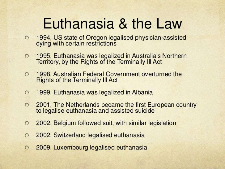 a look at the three categories of euthanasia This work will be to look into the role of the physician in ending a patient's life  through the  the various kinds of euthanasia and some necessary distinctions   chapter three will be basically taking a critical view of the.