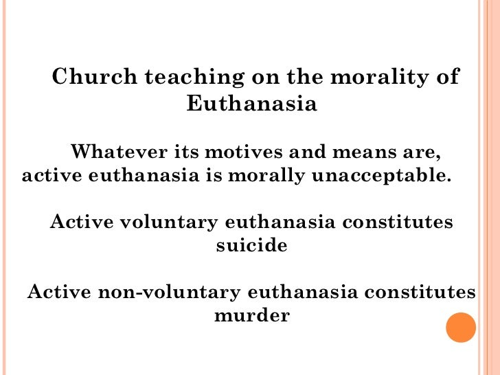 an argument in favor of recognizing euthanasia as a form of mercy to the people who are suffering The arguments for euthanasia and physician-assisted suicide: relief from suffering and as a form of as an argument in favor of euthanasia12 in.