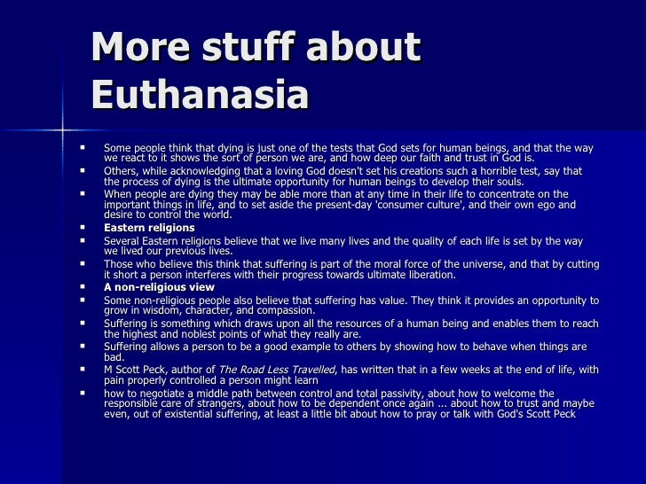 Euthanasia death and minimally painful way