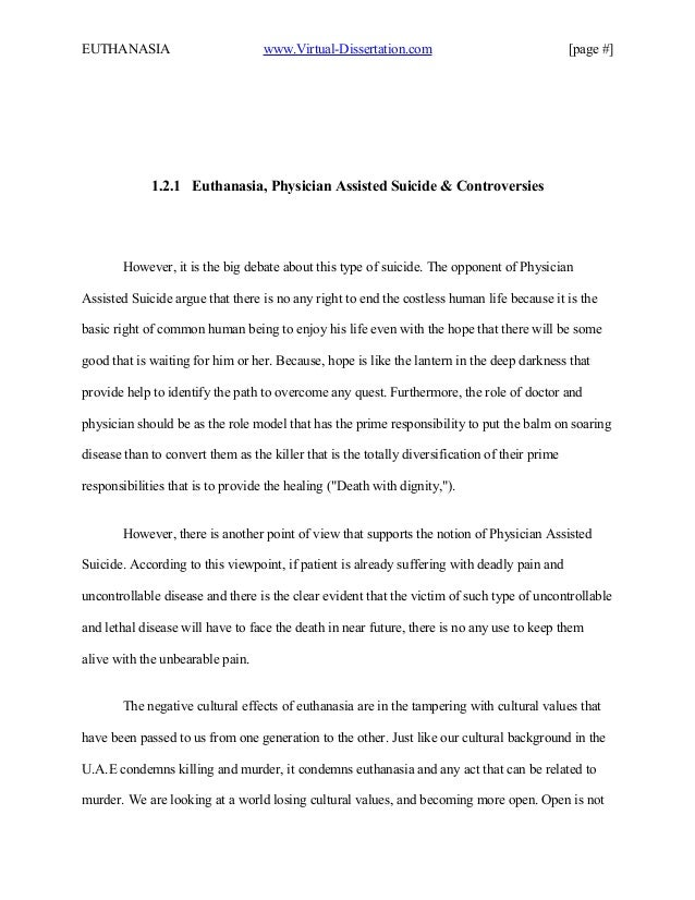 doctor assisted suicide thesis