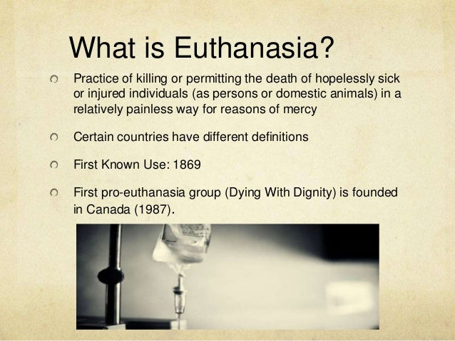 Euthanasia, Assisted Suicide & Health Care Decisions – Part 1