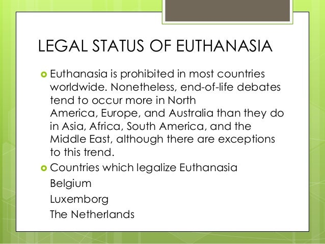 canada ponders on legalization of euthanasia Fast facts about bill c-384 what does bill c-384 do bill c-384 would legalize euthanasia and assisted suicide in canada how does it do this it amends two sections.