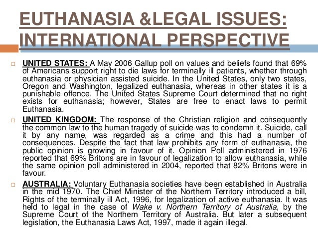The controversial issue of voluntary euthanasia in the united states