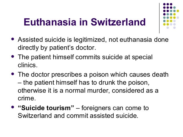 euthanasia and the law What does the law say in different states and what does the law in different countries say what is the difference between euthanasia.