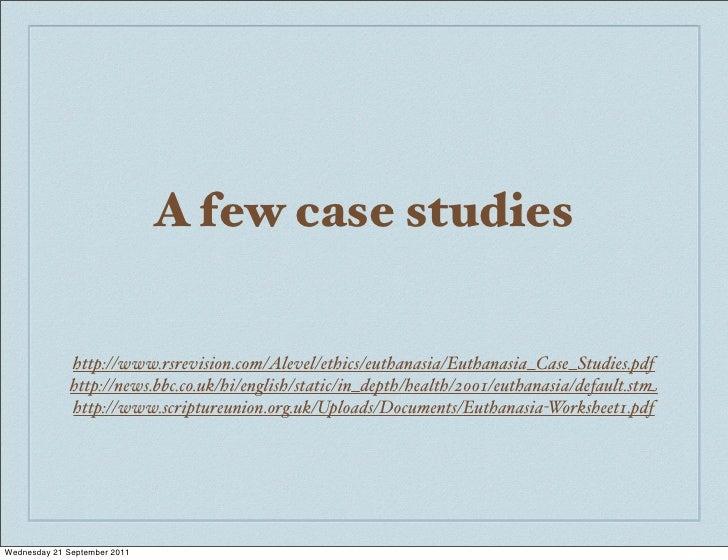 Euthanasia case studies uk