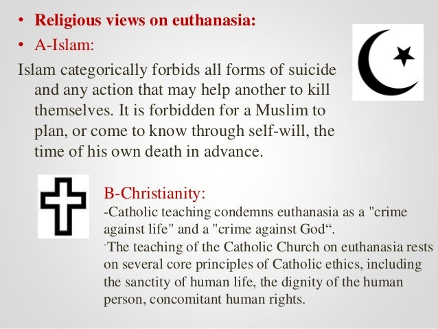 euthanasia from an islamic perspective Brief reflections on euthanasia  12 on september 12, 1991, a statement was released by the administrative committee of the national conference of catholic bishops, and the statement centered.