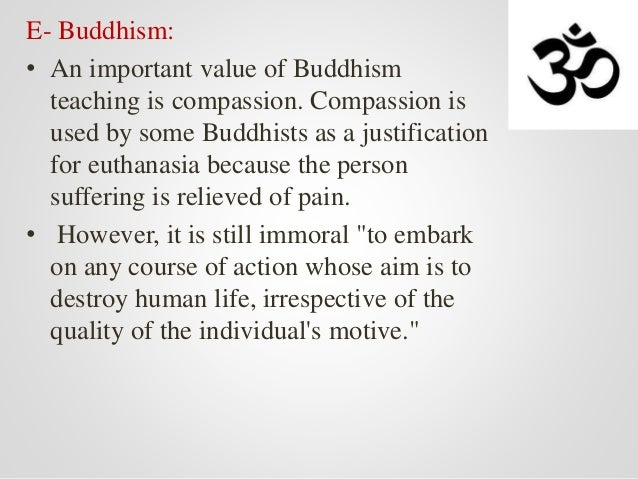 Buddhism and euthanasia