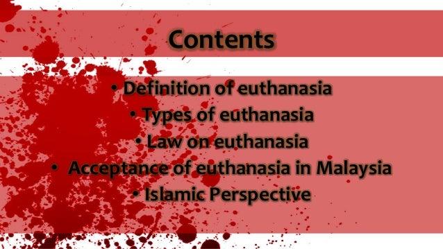 Definition of Euthanasia