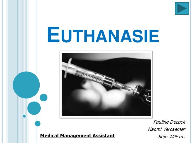 EUTHANASIE                                 Pauline Decock                               Naomi VercaemerMedical Management ...