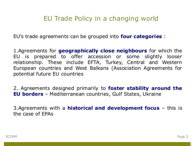 Eu Trade Policy In A Changing World The Context