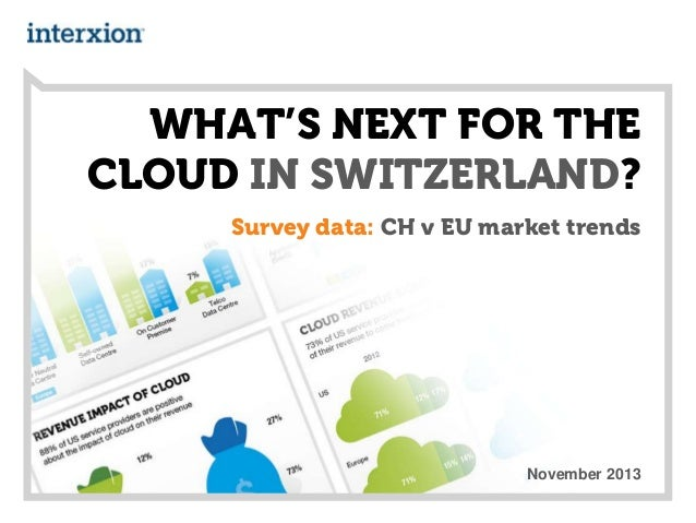 WHAT'S NEXT FOR THE CLOUD IN SWITZERLAND? Survey data: CH v EU market trends  November 2013