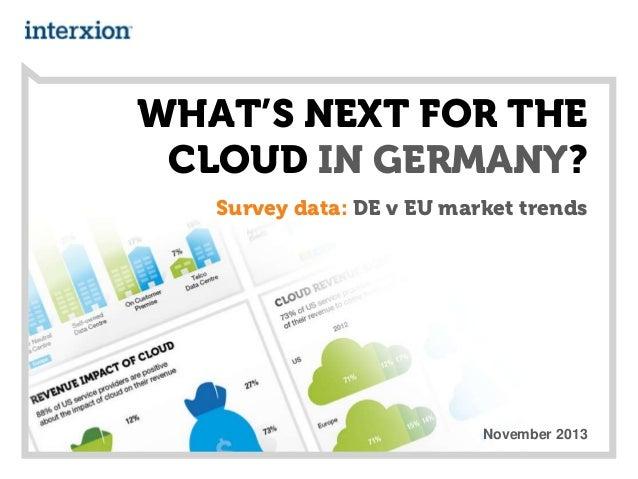 WHAT'S NEXT FOR THE CLOUD IN GERMANY? Survey data: DE v EU market trends  November 2013