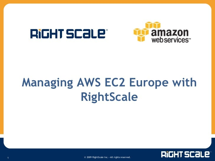 Managing AWS EC2 Europe with RightScale