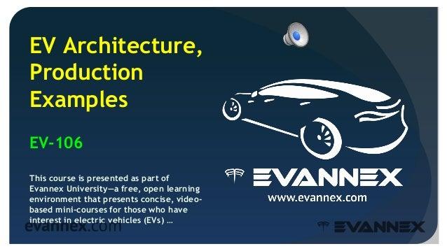Electric Vehicle University - 106 PRODUCTION EXAMPLES Slide 2