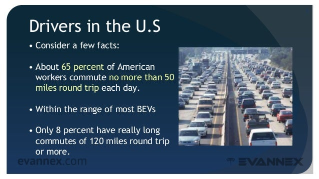 Drivers in the U.S • Consider a few facts: • About 65 percent of American workers commute no more than 50 miles round trip...