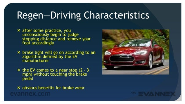 Regen—Driving Characteristics  after some practice, you unconsciously begin to judge stopping distance and remove your fo...