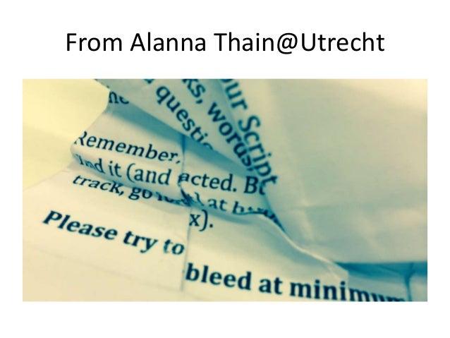 From Alanna Thain@Utrecht