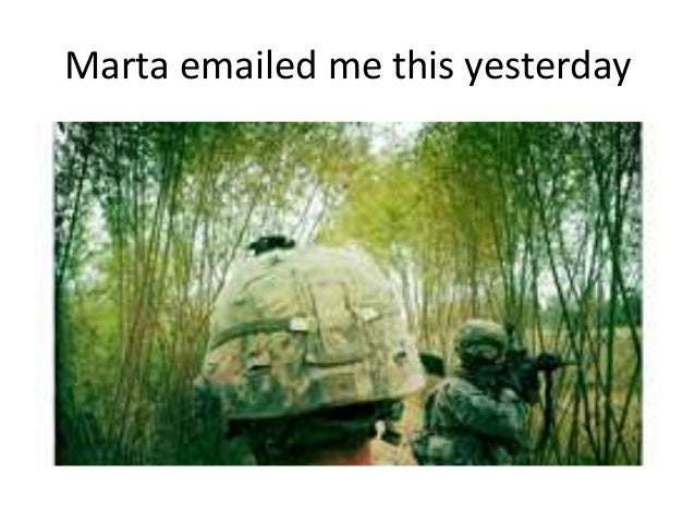 Marta emailed me this yesterday