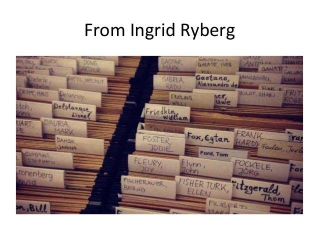 From Ingrid Ryberg