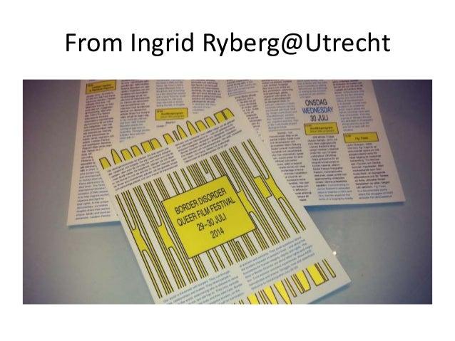 From Ingrid Ryberg@Utrecht